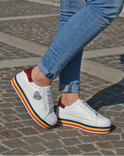 Sneakers Cuore White