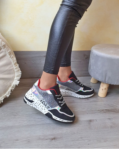 Sneakers Brilla Black/red